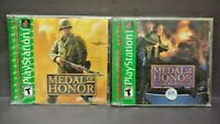 Medal of Honor + Underground Playstation 1 2 PS1 PS2 Game Lot MOH 1 + 2 Complete