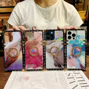 Bling Watercolor Square Phone Case For Samsung A32 A51 A71 A02S A20S A12 A22 A52