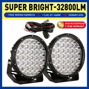 """NEW Spotlights 9"""" LED Driving Lights Black Round Offroad Truck 4X4 SUV 12V 24V"""