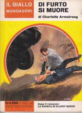 DI FURTO SI MUORE Charlotte Armstrong 871 il giallo Mondadori 10 ottobre 1965