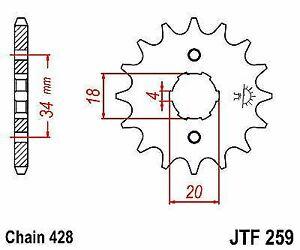 JT Front Sprocket 17 Tooth JTF259-17