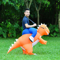 Adult Inflatable Costume T-Rex Dinosaur Suit Blow Up Halloween Dragon Outfit Men
