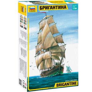 """ZVEZDA 9011 Model Kit Ship """"BRIGANTINE"""", 1/100"""