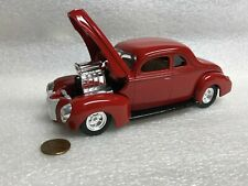 1:24 Ford 1940 Coupe Nitro Blower Supercharger DieCast Muscle Car Custom Painted