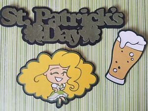 Premade Paper Piecing Cricut St. Patrick's Day Title and Accessories