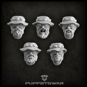 Guerilla heads Five models Puppetswar S094