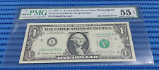 Error Ink Smear 1981A US$1 Federal Reserve Note Minneapolis PMG EPQ 55 AUNC