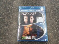 Double Feature - Face/Off & Snake Eyes - Nicolas Cage - Blu-Ray - Sealed!