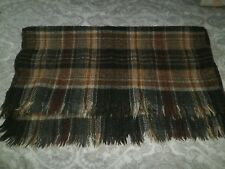 SCOTTIA PURE WOOL TRAVEL RUG ~ VINTAGE RETRO ~ CARAVAN, PICNIC, ROCKABILLY