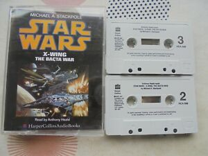 2 Cassettes Audio Book Star Wars X Wing and The Bacta War