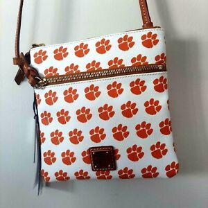 Clemson Tigers Purse Dooney & Burke Crossbody Bag Adjustable Strap Orange Paws