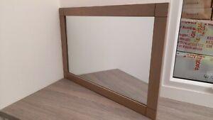 ~~~GREAT DISCOUNT~~~ 😁 Solid Oak Framed Mirror Grey Wall Hung 90x60cm
