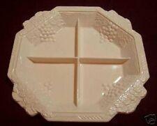Jeannette Shell Pink Milk Glass 4 Part VINEYARD Relish Tray Plate Platter