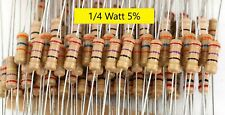 1/4W 5% carbon film resistors-Qty 5/10/20-All Values-Ship Day Ordered-Mr Circuit