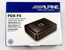 Alpine PDX-F4 400W RMS 4-Channel Digital Car Amplifier NEW (PDXF4) Shipping Fast