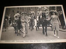Old postcard Pearly kings Queens Southwark Charles Skilton London Life c1950