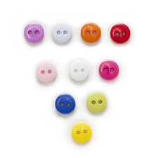 100pcs 2 hole Round Resin Buttons Decor Sewing Scrapbooking Home Clothing 9mm
