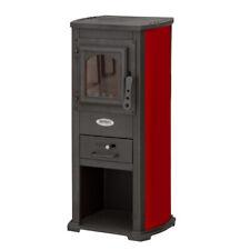 Divina fire stufa a legna 5-7kw rossa portalegna riscaldamento casa df51697