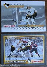 Pittsburgh Penguins 1994-95,1995-96 Calendars (Shop 'n Save & Foodland) Lemieux