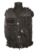 Gilet Tattico USMC con fondina Tactival Vest NERO Miltec Sicurezza tipo 2ET03 VH