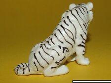 12) Schleich Schleichtier - Tiger sitzend weiß 14097 Rarität