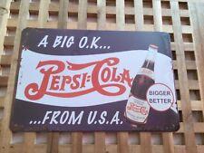 Vintage Estilo Retro Metal Lata signos cartel Pepsi Cola de Cueva de pared Home Raro