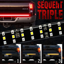 "3 Row LED Truck Sequential Signal 48"" Tailgate Light Strip Bar For Pickup SUV RV"