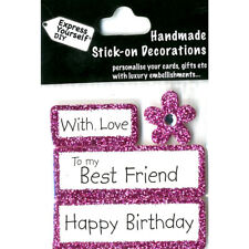 DIY Celebrate-With Love-To my Best Friend -Happy Birthday-Greeting Card Topper