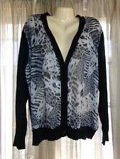 Women's TORRID Black & Gray Print Long Sleeve V Neck Sweater - size 3