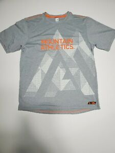 THE NORTH FACE T-Shirt Top Men's Size Small MOUNTAIN ATHLETICS Gray Orange White