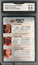 2009-10 UD Draft Edition Eric Maynor Jonny Flynn Stephen Curry RC Rookie GMA 8.5