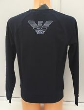 EMPORIO ARMANI EA7 Sweater in Marine Blue with EA7 Blue Logo Sizes S-XL BNWT