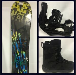 "NEW Beginner-Intermediate Snowboard Package 150cm add Bindings & Boots ""Splatter"
