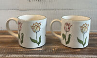 Set of 2 Vintage Tiffany Tulips Cups Mugs Designed By & Exclusive TIffany Co