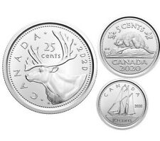 2020 Quarter Nickel Dime 25 10 5 Cents Canada Coins From RCM First Strike Rolls