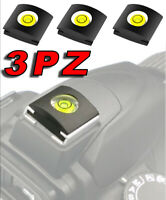 3X BUBBLE LEVEL HOT SHOE MOUNT FLASH SPIRIT CAMERA NIKON D3100 D3S D3000 D300S