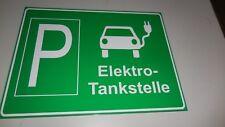 Parkplatz Tankstelle Ladestation für e-Auto Elektroauto grün Schild 400 x 300 mm
