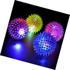 Large Led Flashing Bounce Spike Ball Kids Birthday Party Loot Bag Filler Toy