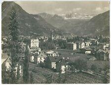 1920c GRIES BOLZANO veduta Bozen Catinaccio Vajolet Fotografia J Gugler 26x20cm