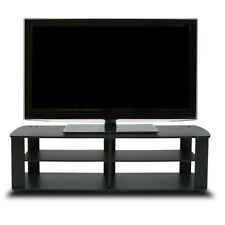 Wooden TV Stand with 3 Shelves finished in Black