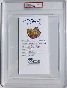 TRISTAR Patriots TOM BRADY Signed Autographed 2000 NFL DRAFT CARD Football PSA10