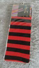 Ringel-Kniestrümpfe Rot-schwarz Gothic Larp Punk Halloween Lolita