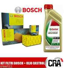 Replacement Kit engine oil CASTROL EDGE 5W30 5 LT 4 FILTERS BOSCH VW GOLF 4 IV