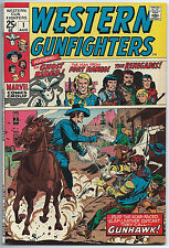 WESTERN GUNFIGHTERS #1 Aug 1970 VF+ 8.5 Original GHOST RIDER App MARVEL Comics
