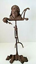Antique Cast Metal Tripod Tabletop Easel Stand Seafarer/Fisherman