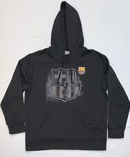 FC Barcelona Crest Hoodie Sweater Black Size Large