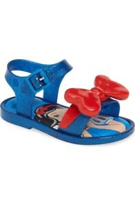 Mini Melissa Snow White Bow Sandals  Baby Toddler Sz 7