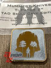 "TAD 2"" Titanium Patch Skull CaveTi Eye Graphite Triple Aught Design Mummert"