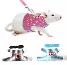 EXTRA SMALL TINY PET PUP MOUSE RAT GUINEA PIG BUNNY HARNESS LEAD BLACK PINK BLUE