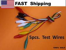 """5pcs - 18"""" Double end Crocodile Clips Cable Alligator Clips testing wire leads"""